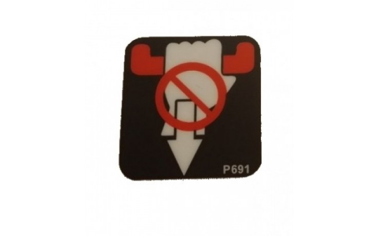 Decal / Sticker -Safety Bar ' Do not Pull '