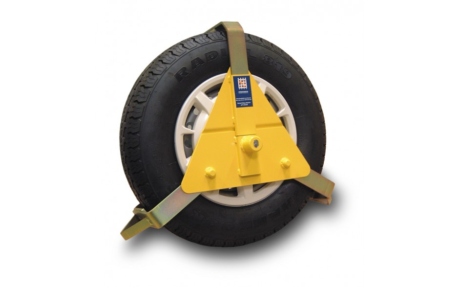 "Stronghold 10-14""  Wheel clamp, Sold Secure Gold standard approved"