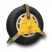 STRONGHOLD 10-14 INCH WHEEL CLAMP, SOLD SECURE GOLD STANDARD APPROVED