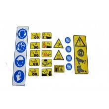 Safety Sticker Set (Diesel Machines) - General Decals