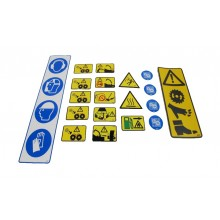 Safety Sticker Set (Petrol Machines) - General Decals